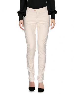 Повседневные брюки KOCCA. Цвет: слоновая кость