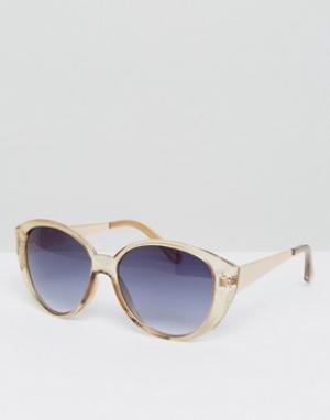 AJ Morgan Массивные солнцезащитные очки кошачий глаз. Цвет: коричневый
