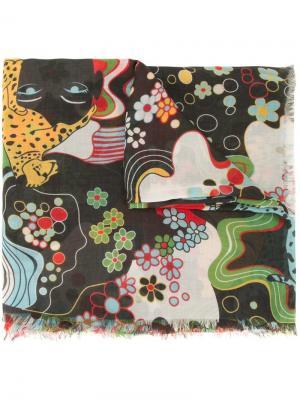 Шарф с абстрактным принтом Mary Katrantzou. Цвет: многоцветный