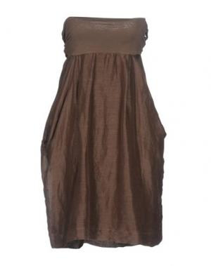 Короткое платье AGATHA CRI. Цвет: хаки