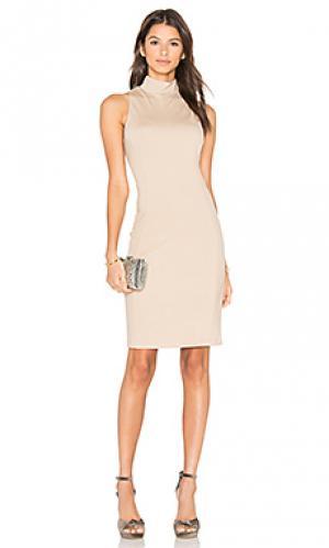 Платье с ложным воротником Eight Sixty. Цвет: цвет загара