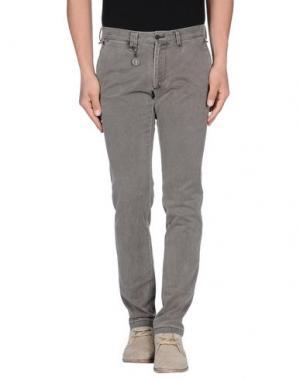 Повседневные брюки MESSAGERIE. Цвет: серый