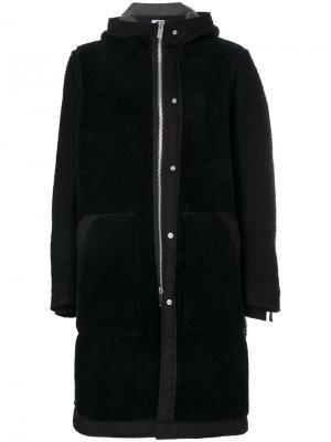 Пальто с капюшоном Sacai. Цвет: чёрный