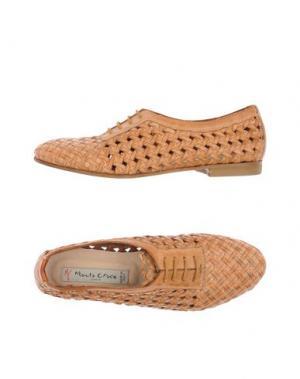 Обувь на шнурках MANILA GRACE DENIM. Цвет: верблюжий