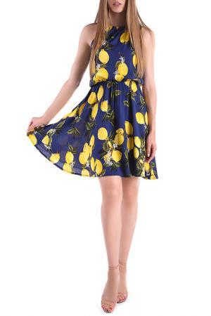 Платье Magnet. Цвет: синий