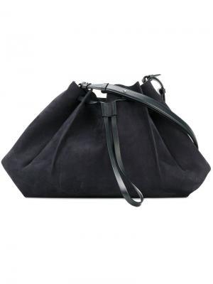 Структурированная сумка-тоут Maison Margiela. Цвет: синий