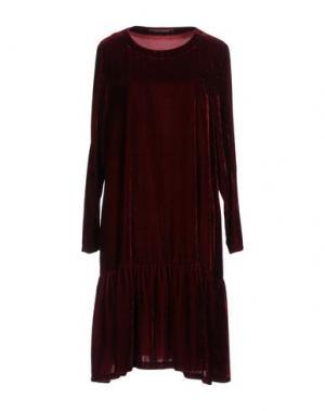 Платье до колена EUROPEAN CULTURE. Цвет: красно-коричневый