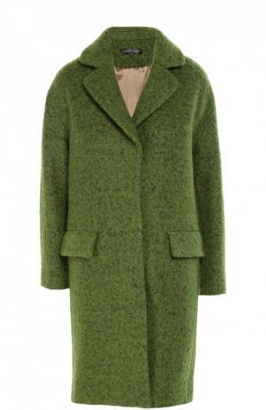 Пальто прямого кроя с укороченным рукавом Alexander Terekhov. Цвет: зеленый