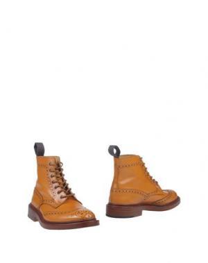 Полусапоги и высокие ботинки TRICKER'S. Цвет: желто-коричневый
