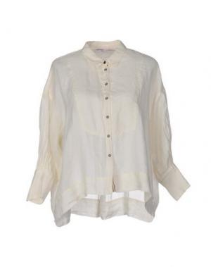 Pубашка OTTOD'AME. Цвет: слоновая кость