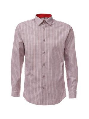 Рубашка GREG. Цвет: красный, серый