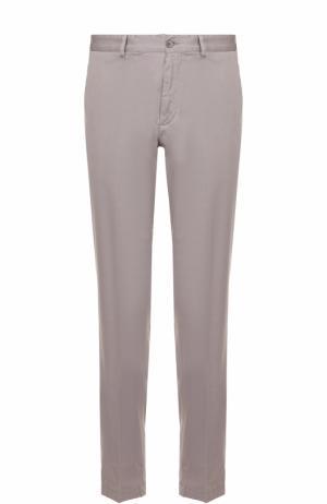 Хлопковые брюки прямого кроя Paul&Shark. Цвет: серый