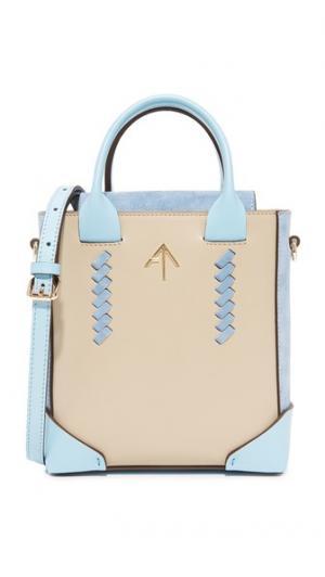 Миниатюрная объемная сумка Pristine с короткими ручками MANU Atelier