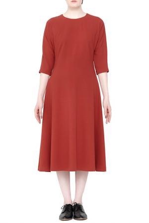 Платье Cyrille Gassiline. Цвет: терракотовый