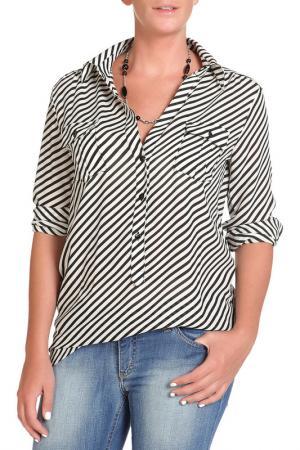 Блуза DENNEY ROSE. Цвет: черный, белый