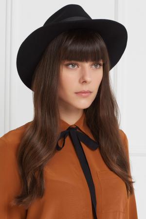 Фетровая шляпа Clasico Artesano. Цвет: черный