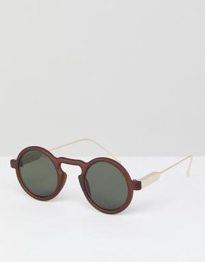 Spitfire Коричневые круглые солнцезащитные очки Aurora. Цвет: коричневый