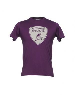 Футболка AUTOMOBILI LAMBORGHINI. Цвет: фиолетовый