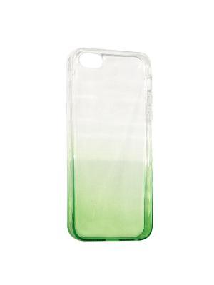 Крышка задняя для Iphone5/5S/SE Силикон IQ Format. Цвет: зеленый
