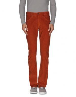 Повседневные брюки SUPERFINE. Цвет: ржаво-коричневый
