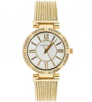 Часы с золотистым металлическим браслетом Anne Klein