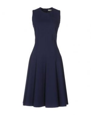 Платье до колена TROU AUX BICHES. Цвет: темно-синий