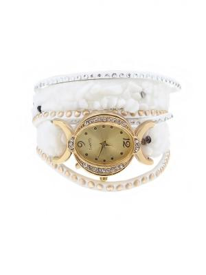 Браслет-часы Olere. Цвет: белый, золотистый