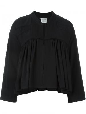 Укороченная куртка на молнии Forte. Цвет: чёрный