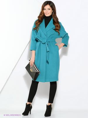 Пальто-oversize RUXARA. Цвет: морская волна