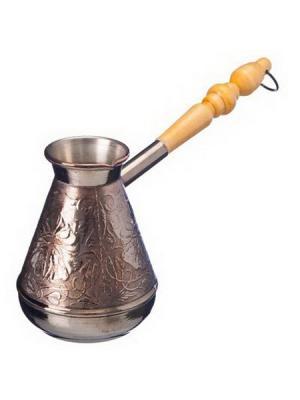 Турка для кофе 380мл Цветок, медная, КО-26381 KONONO. Цвет: черный