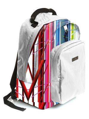 Рюкзак универсальный с отделением для ноутбука водоотталкивающим покрытием Фестиваль Faber-Castell. Цвет: белый