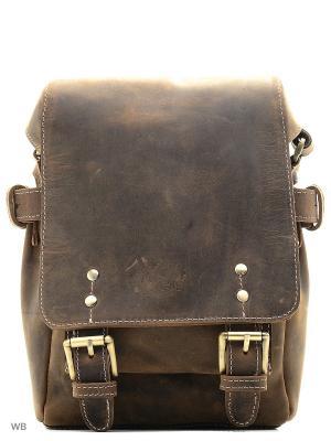 Сумка через плечо Tony Bellucci. Цвет: коричневый