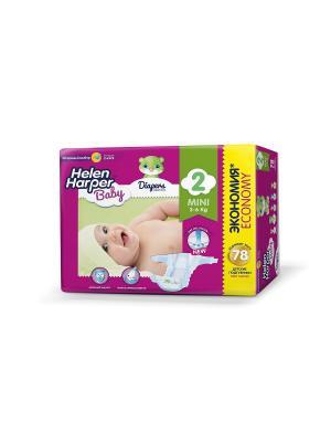 Подгузники Mini 3-6 кг. (78 шт.)/3 HELEN HARPER BABY. Цвет: фиолетовый