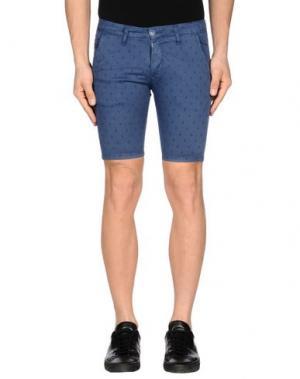 Повседневные шорты EXCLUSIVE. Цвет: синий