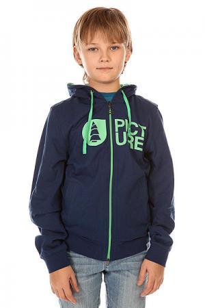 Толстовка классическая детская  Basement Ml Zip Marine Picture Organic. Цвет: синий