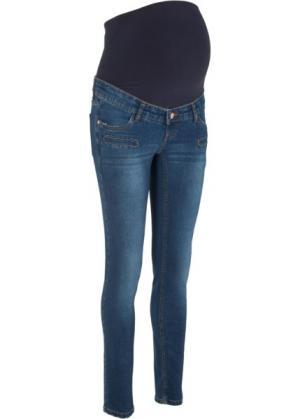 Узкие джинсы для беременных (синий) bonprix. Цвет: синий