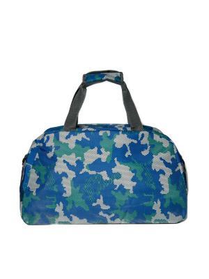 Спортивная сумка для фитнеса и путешествий JD.ZARZIS. Цвет: синий, зеленый