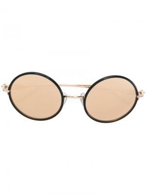 Круглые солнцезащитные очки Chrome Hearts. Цвет: жёлтый и оранжевый