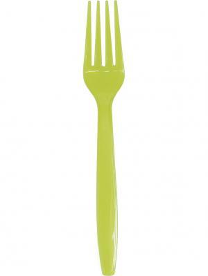 Ножи и вилки пластиковые, для горячих/холодных пищ. продуктов, 10+10 шт, зеленые, 20 шт. DUNI. Цвет: зеленый