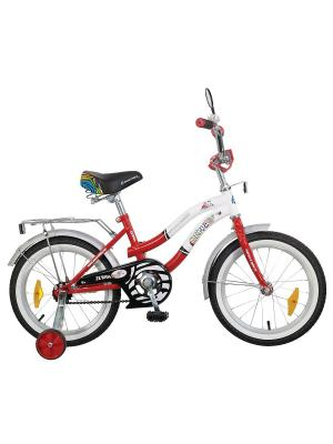 Велосипед 16 Z Зебра NOVATRACK. Цвет: красный, белый