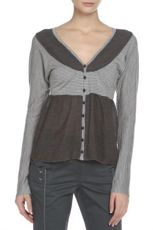 Блуза One Step. Цвет: серый, голубой