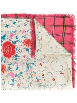 Floral print scarf Pierre-Louis Mascia. Цвет: розовый и фиолетовый