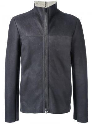 Funnel neck zip jacket Salvatore Santoro. Цвет: серый