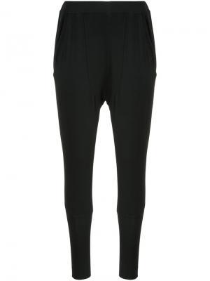 Зауженные брюки кроя скинни Thomas Wylde. Цвет: чёрный
