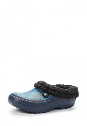 Сабо Crocs. Цвет: синий