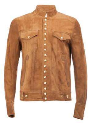 Куртка с застежкой на кнопки The Soloist. Цвет: коричневый