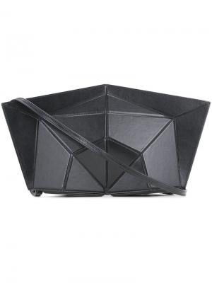 Structured geometric clutch Lamat. Цвет: чёрный