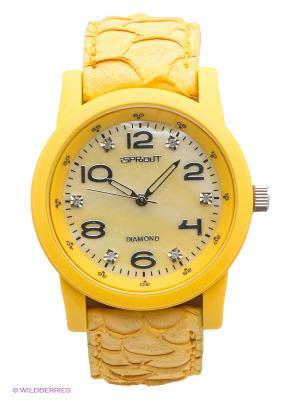 Часы Sprout. Цвет: желтый