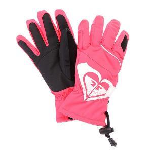 Перчатки сноубордические женские  Popi Girl Glove Diva Pink Roxy. Цвет: розовый