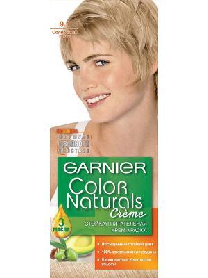 Стойкая питательная крем-краска для волос Color Naturals, оттенок 9.1, Солнечный пляж Garnier. Цвет: бежевый